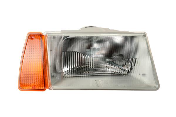 Фара ВАЗ-2108/09 с желтым указателем поворота (серый корпус)